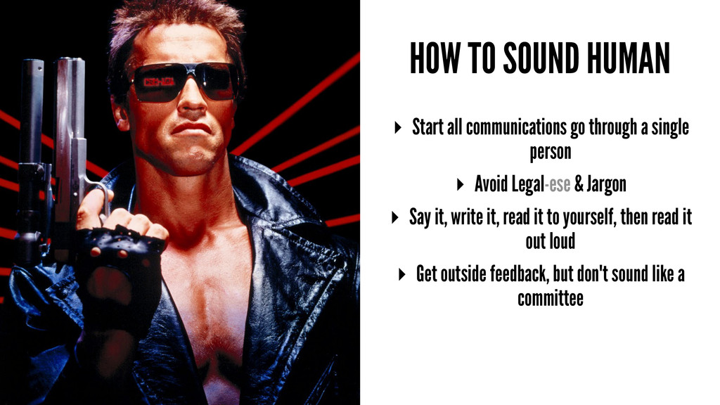 HOW TO SOUND HUMAN ▸ Start all communications g...