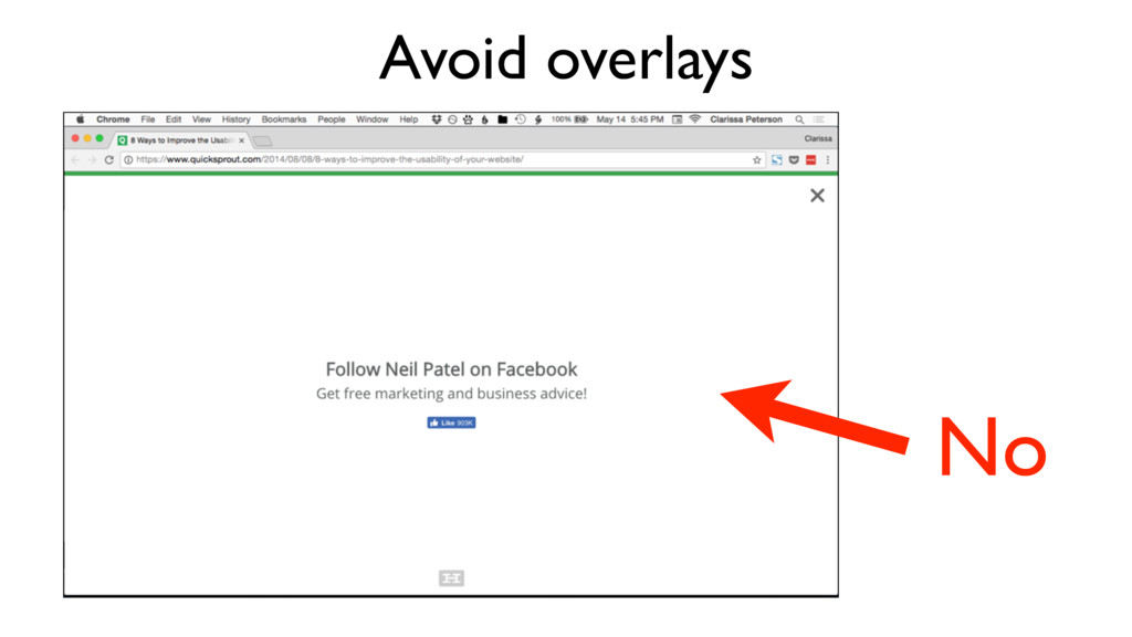 Avoid overlays No