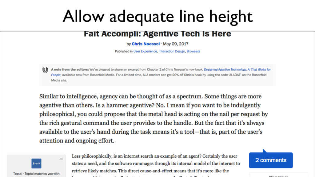 Allow adequate line height