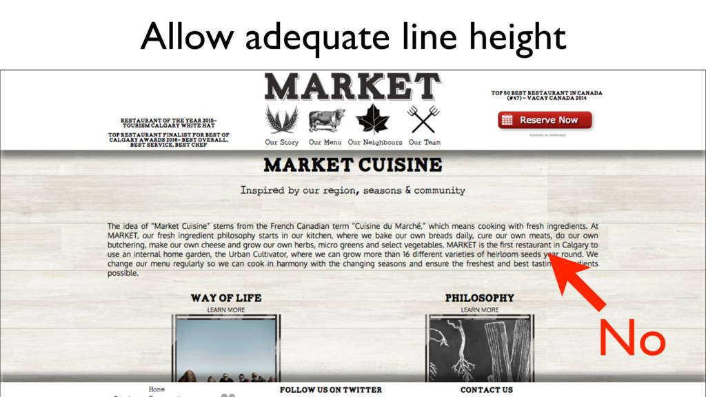 Allow adequate line height No