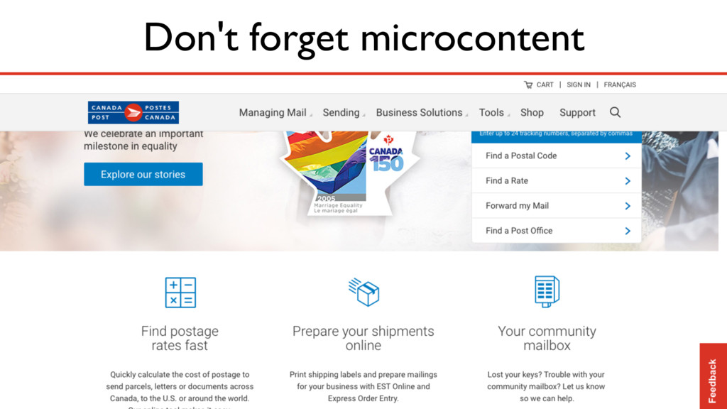 Don't forget microcontent