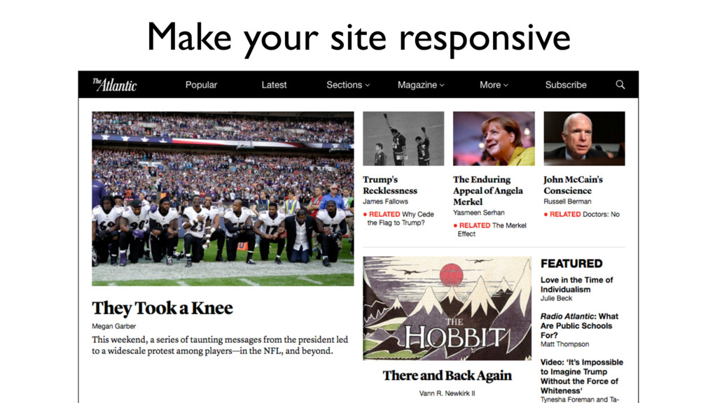 Make your site responsive