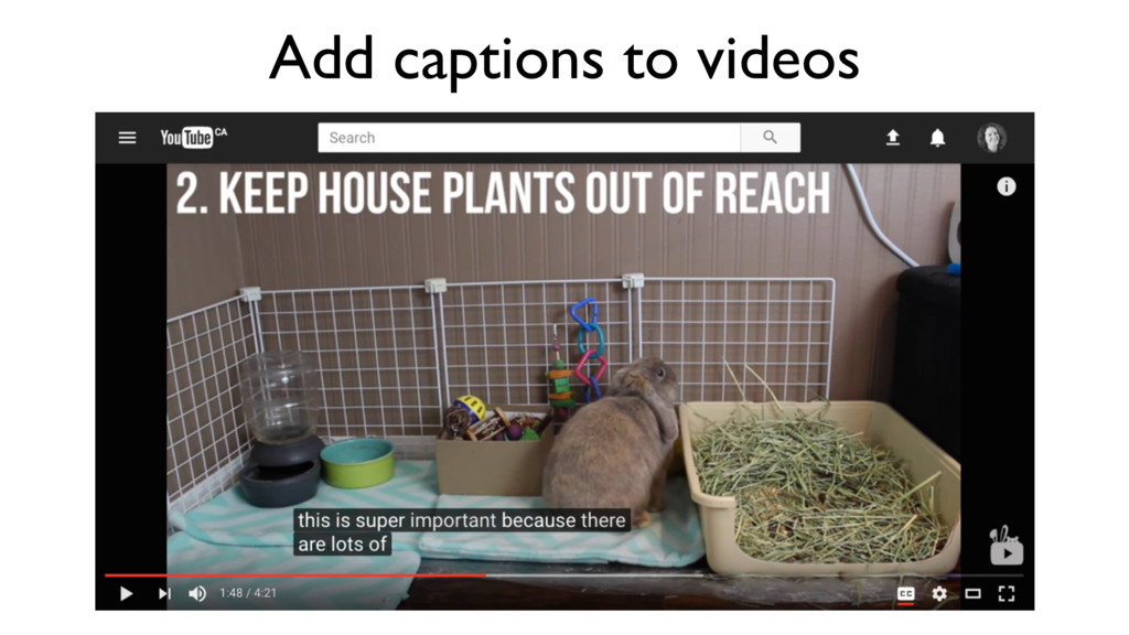 Add captions to videos