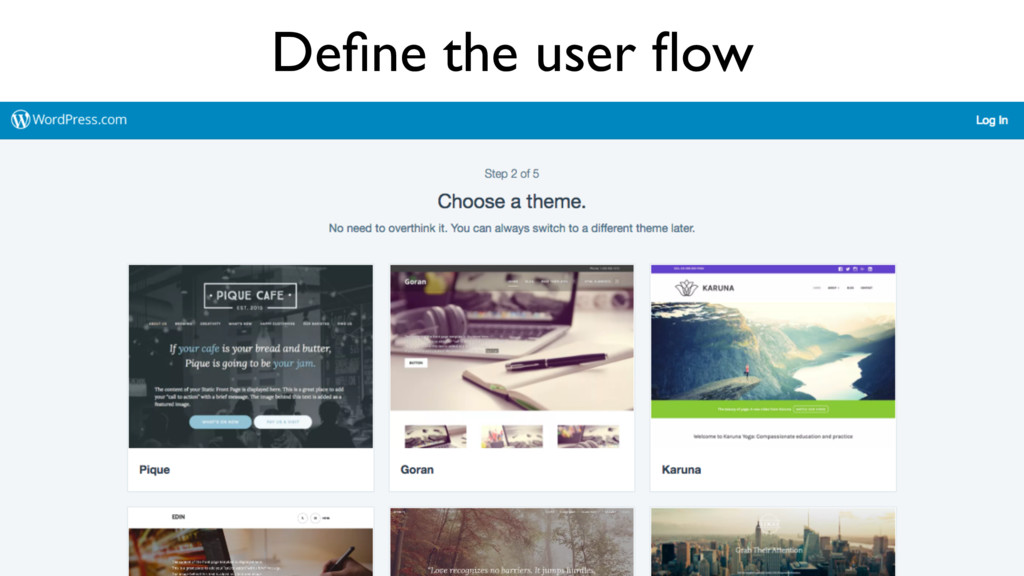 Define the user flow
