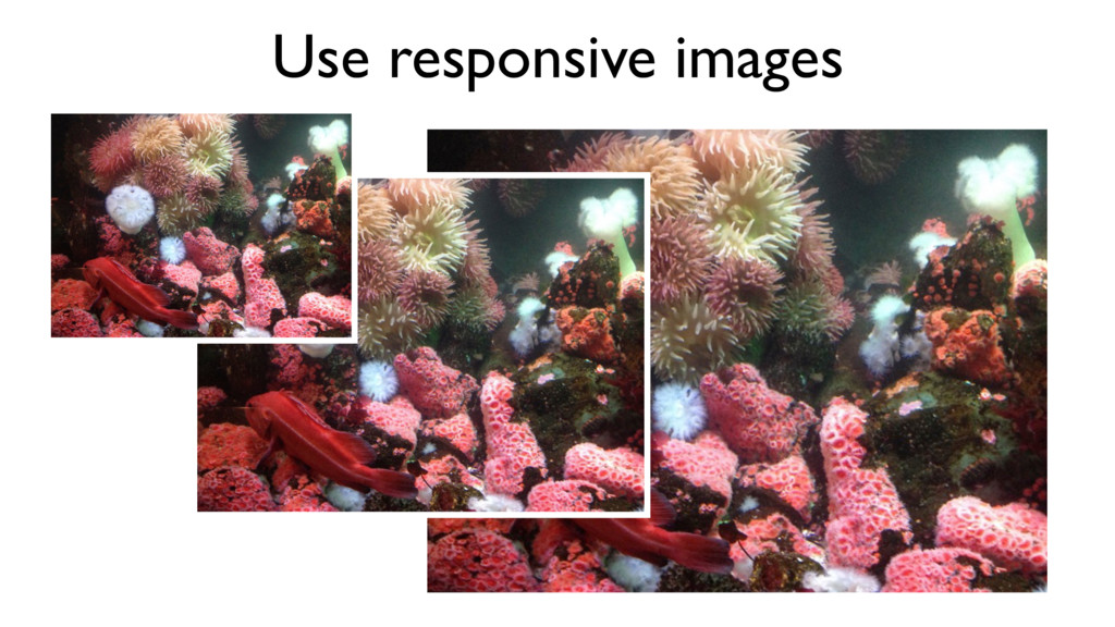 Use responsive images