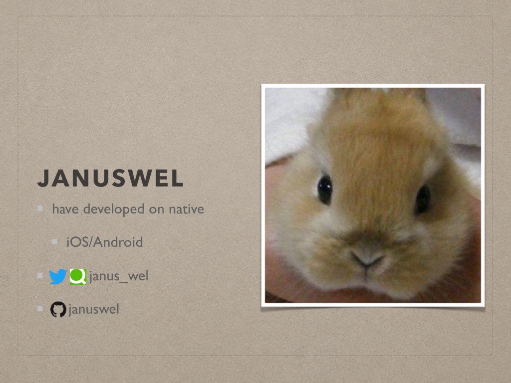 JANUSWEL have developed on native iOS/Android j...