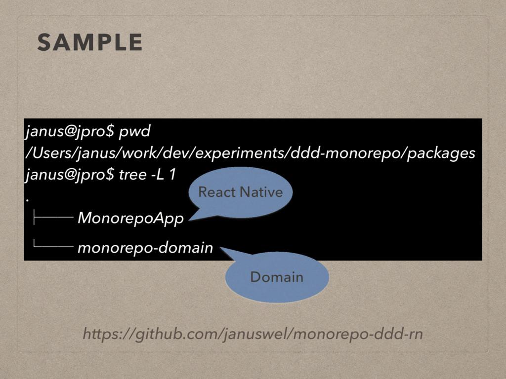 SAMPLE https://github.com/januswel/monorepo-ddd...