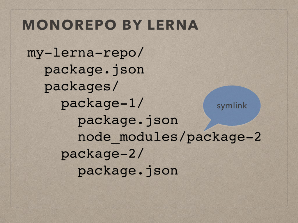 MONOREPO BY LERNA my-lerna-repo/ package.json p...