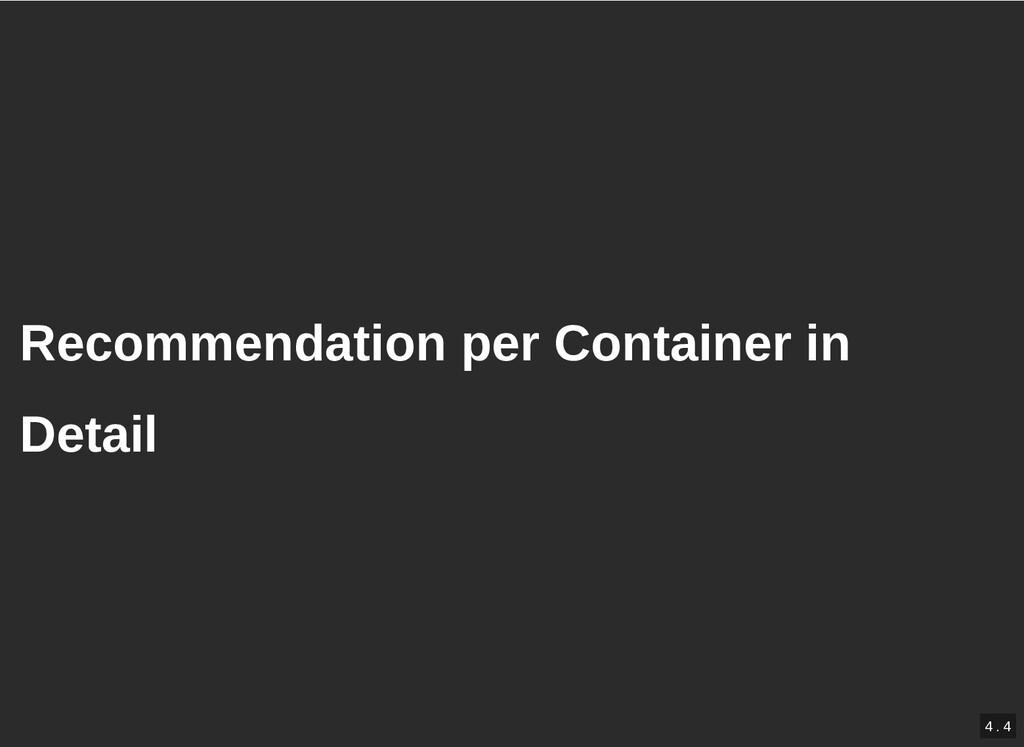 / Recommendation per Container in Recommendatio...