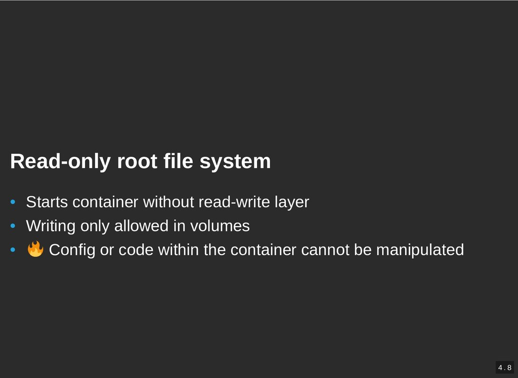 / Read-only root file system Read-only root fil...