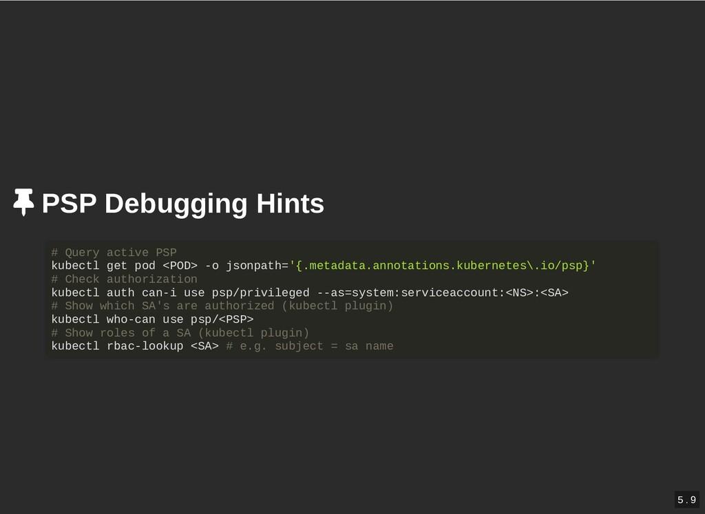/ PSP Debugging Hints PSP Debugging Hints # Que...