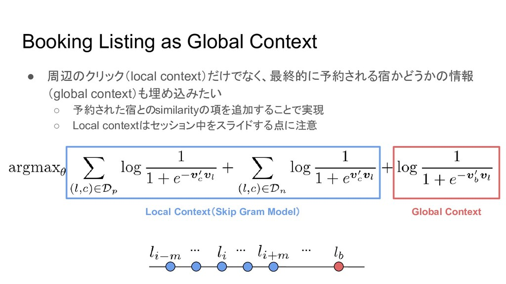 Booking Listing as Global Context ● 周辺のクリック(loc...