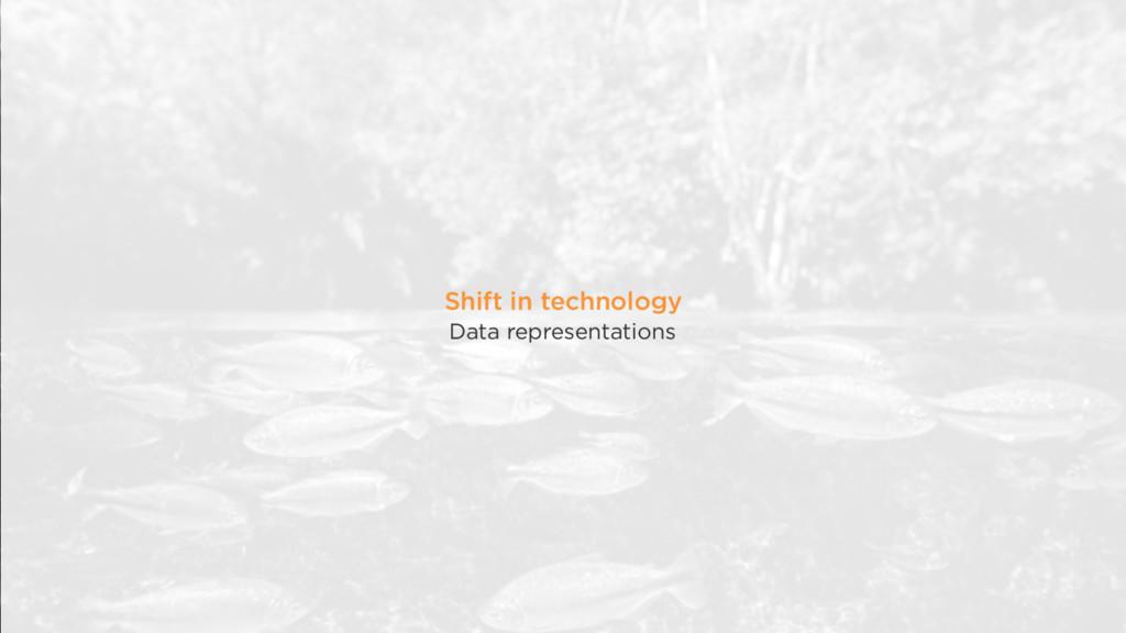 Shift in technology Data representations