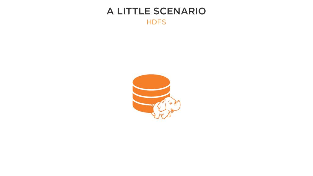 A LITTLE SCENARIO HDFS
