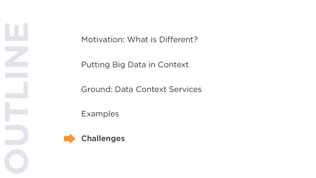 OUTLINE Putting Big Data in Context Ground: Dat...