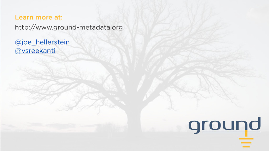 ground Learn more at: http://www.ground-metadat...