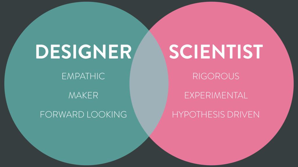 DESIGNER SCIENTIST EMPATHIC MAKER FORWARD LOOKI...