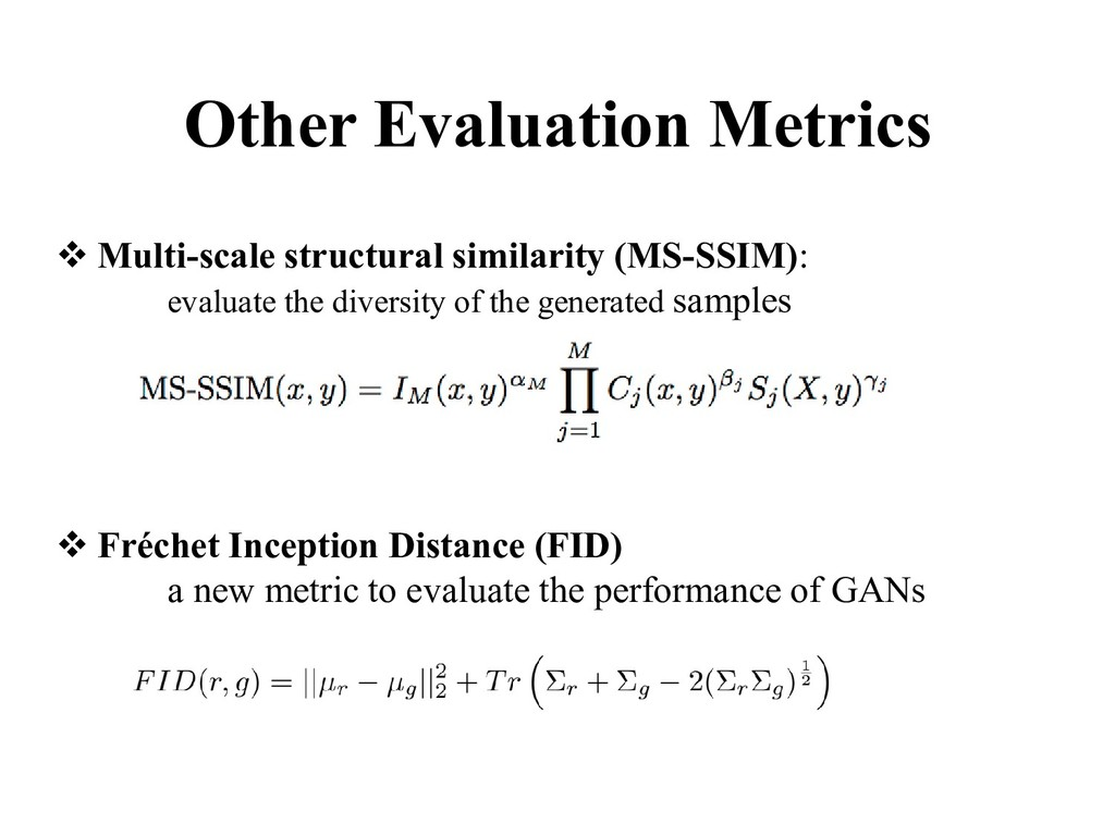 ❖ Multi-scale structural similarity (MS-SSIM): ...