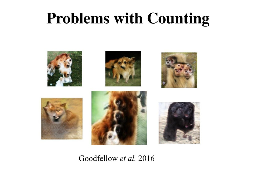 Problems with Counting Goodfellow et al. 2016