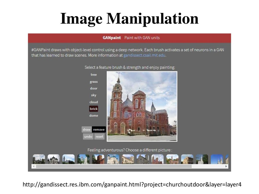 Image Manipulation http://gandissect.res.ibm.co...