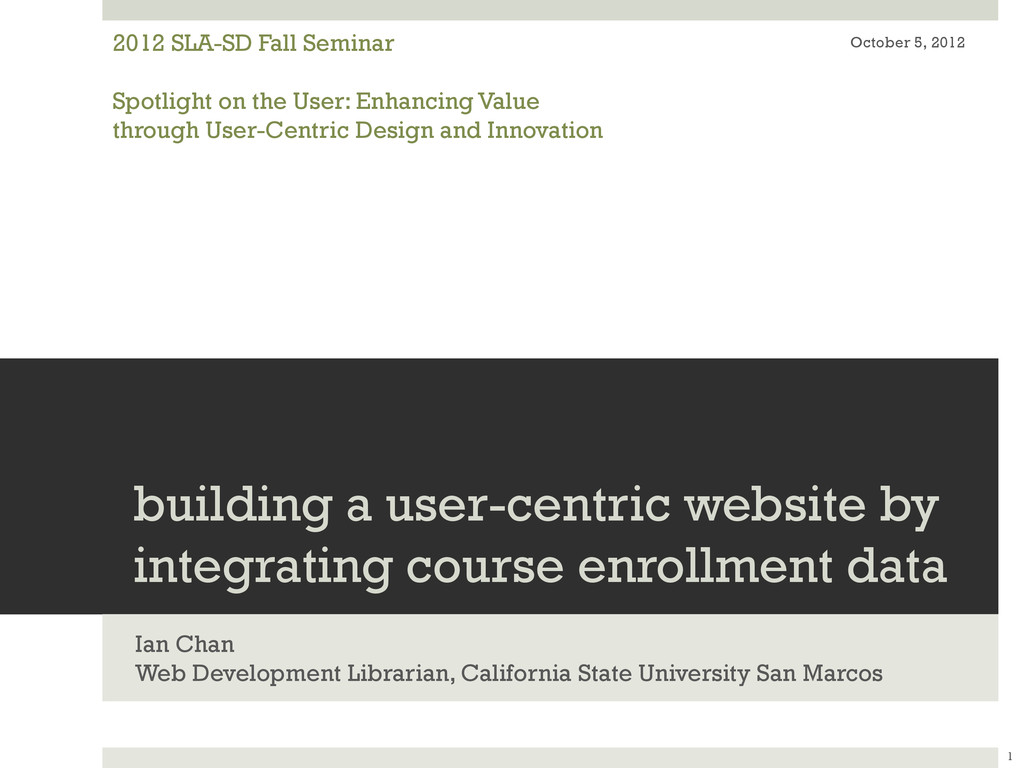 building a user-centric website by integrating ...