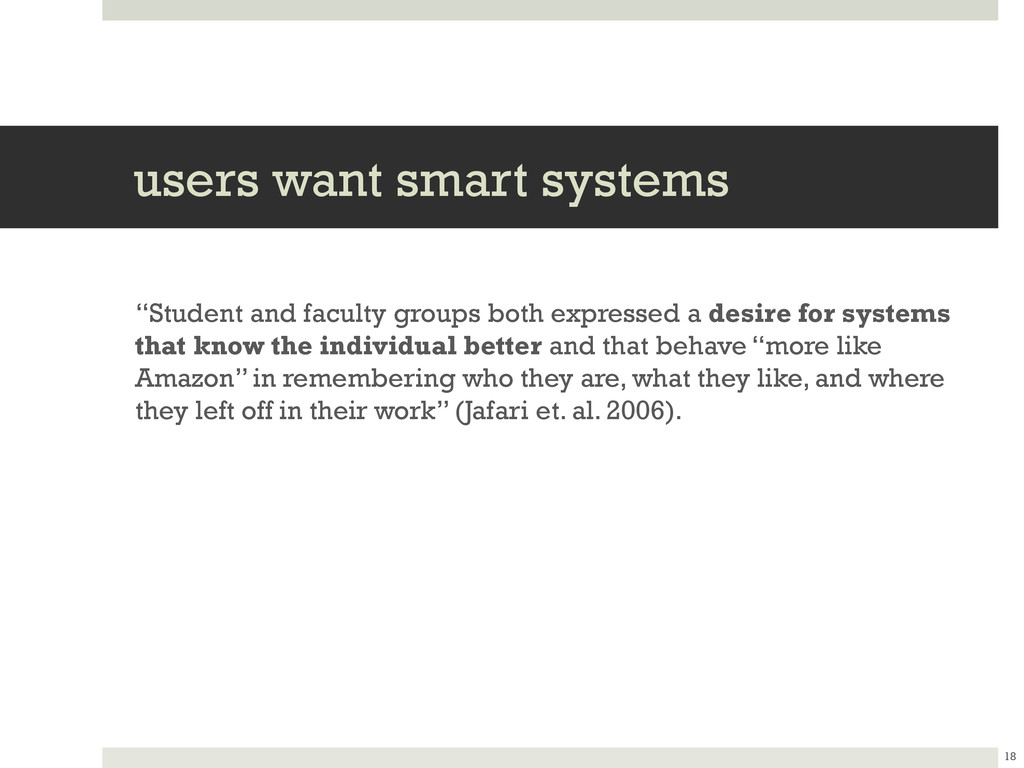 """users want smart systems """"Student and faculty g..."""