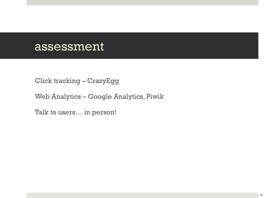 assessment Click tracking – CrazyEgg Web Analyt...