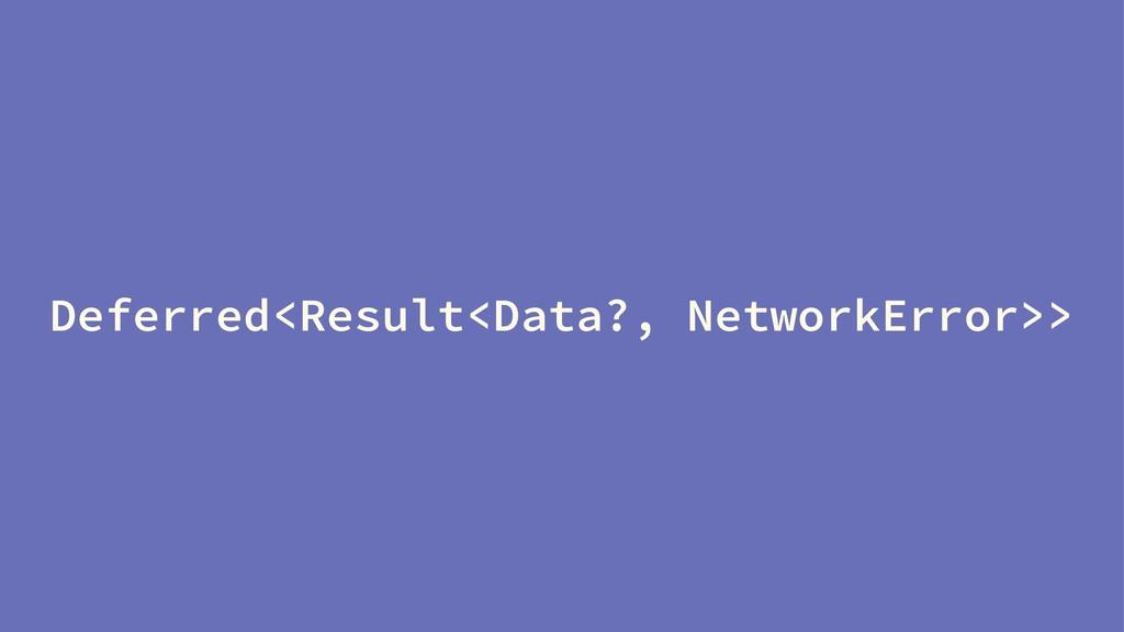 Deferred<Result<Data?, NetworkError>>