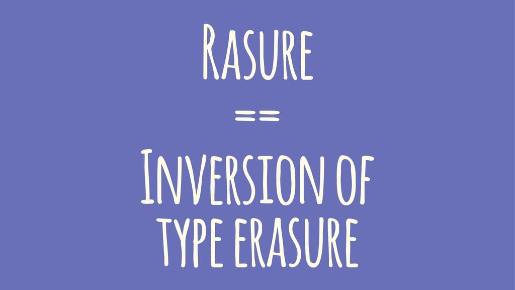 Rasure == Inversion of type erasure