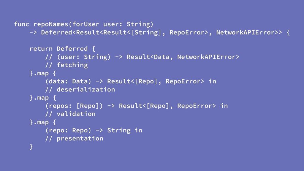 func repoNames(forUser user: String) -> Deferre...