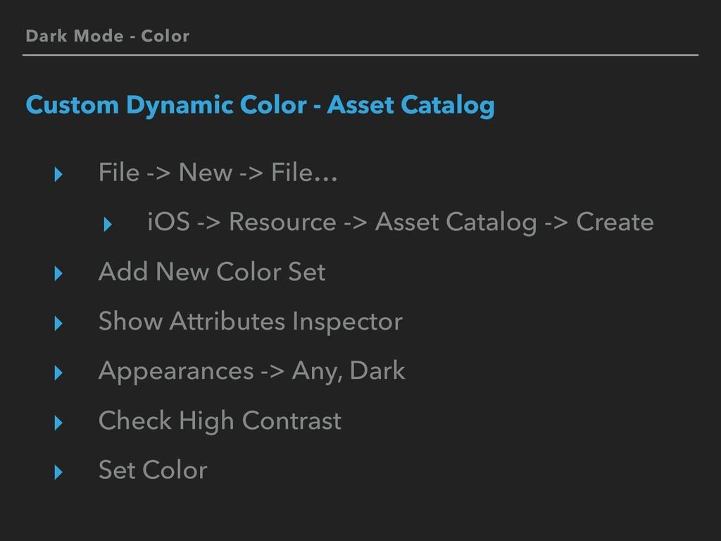 Dark Mode - Color Custom Dynamic Color - Asset ...