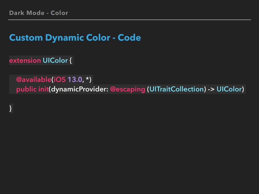Dark Mode - Color Custom Dynamic Color - Code e...