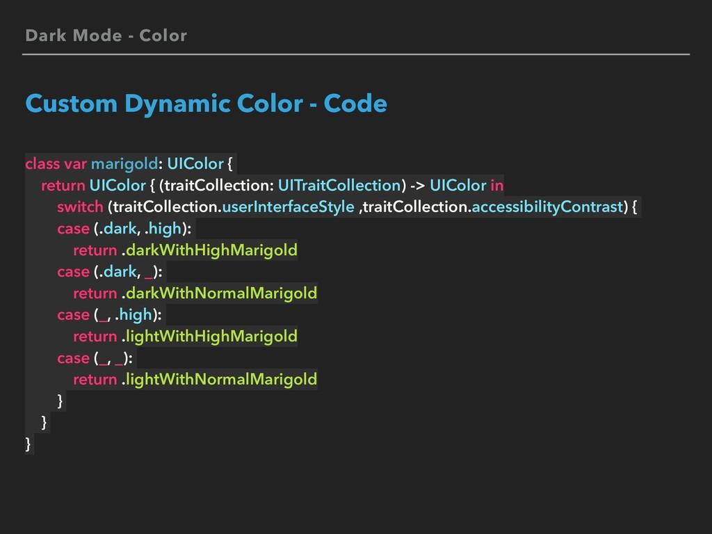 Dark Mode - Color Custom Dynamic Color - Code c...