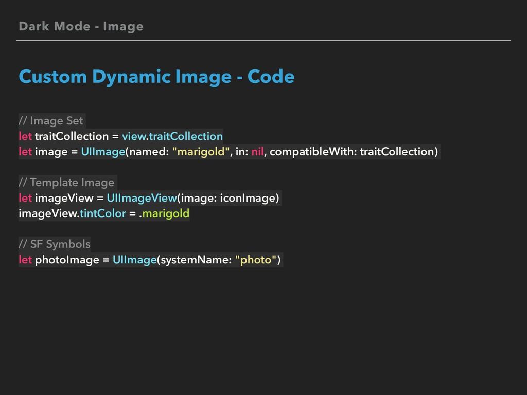 Dark Mode - Image Custom Dynamic Image - Code /...