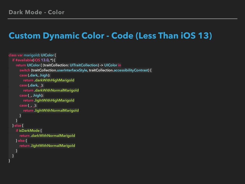 Dark Mode - Color Custom Dynamic Color - Code (...