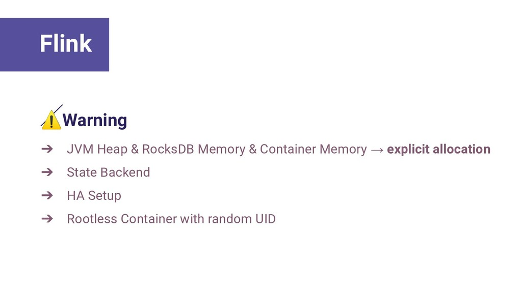 ⚠Warning ➔ JVM Heap & RocksDB Memory & Containe...