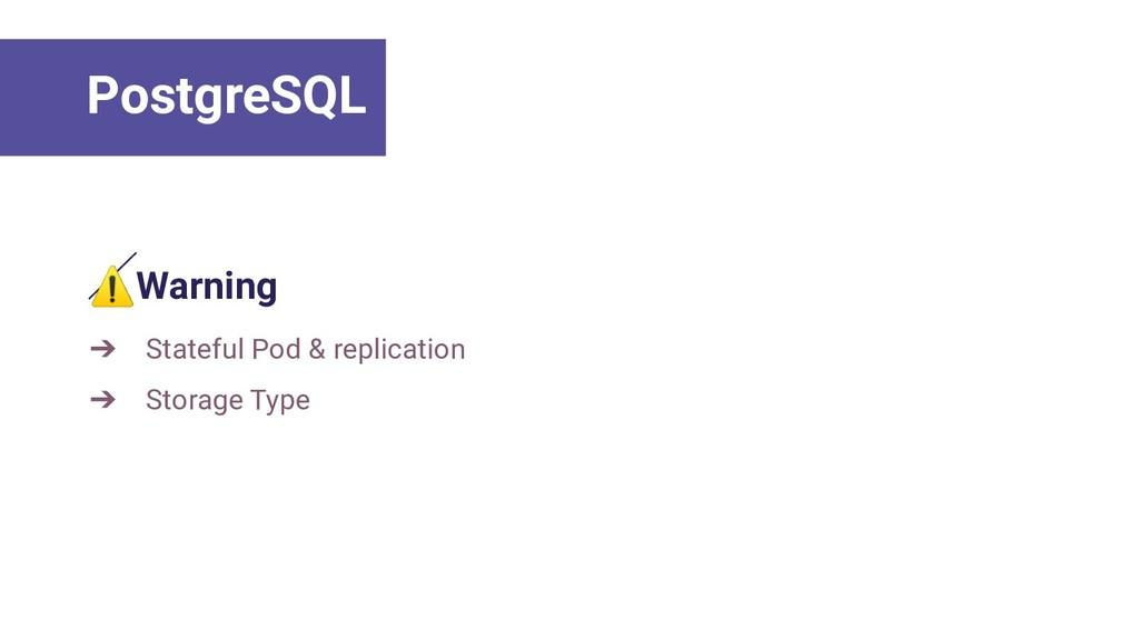 ⚠Warning ➔ Stateful Pod & replication ➔ Storage...