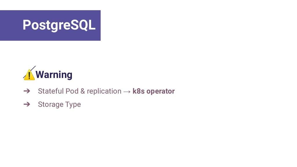 ⚠Warning ➔ Stateful Pod & replication → k8s ope...