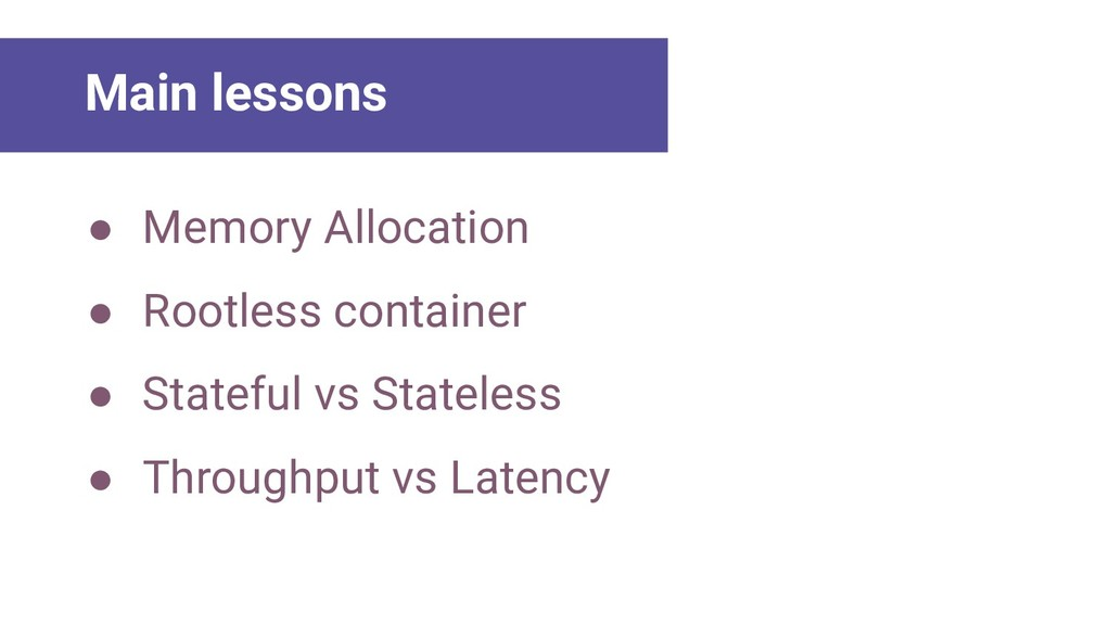 Main Lessons ● Memory Allocation ● Rootless con...
