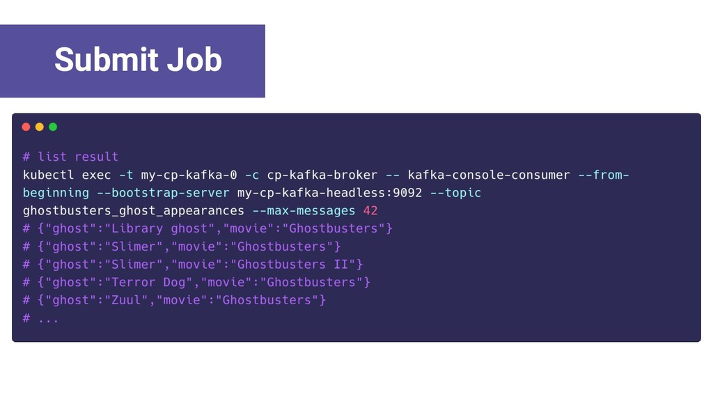 Submit Job