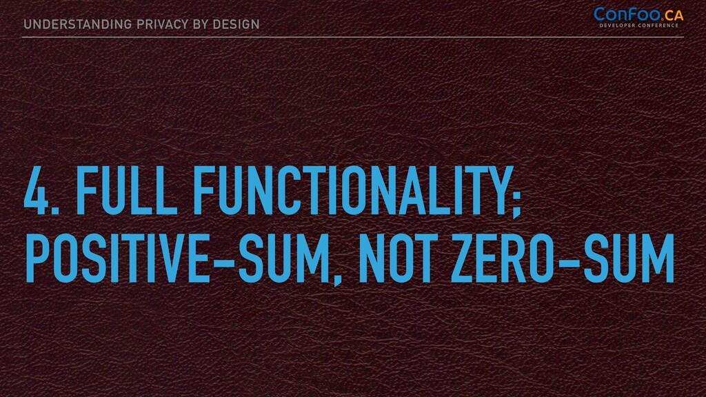 UNDERSTANDING PRIVACY BY DESIGN 4. FULL FUNCTIO...