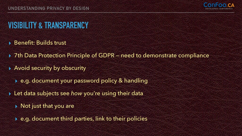 UNDERSTANDING PRIVACY BY DESIGN VISIBILITY & TR...
