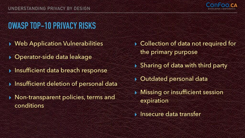 UNDERSTANDING PRIVACY BY DESIGN OWASP TOP-10 PR...