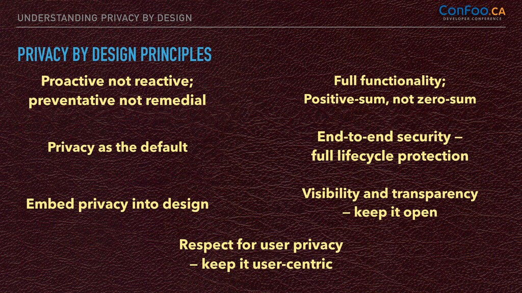 UNDERSTANDING PRIVACY BY DESIGN PRIVACY BY DESI...