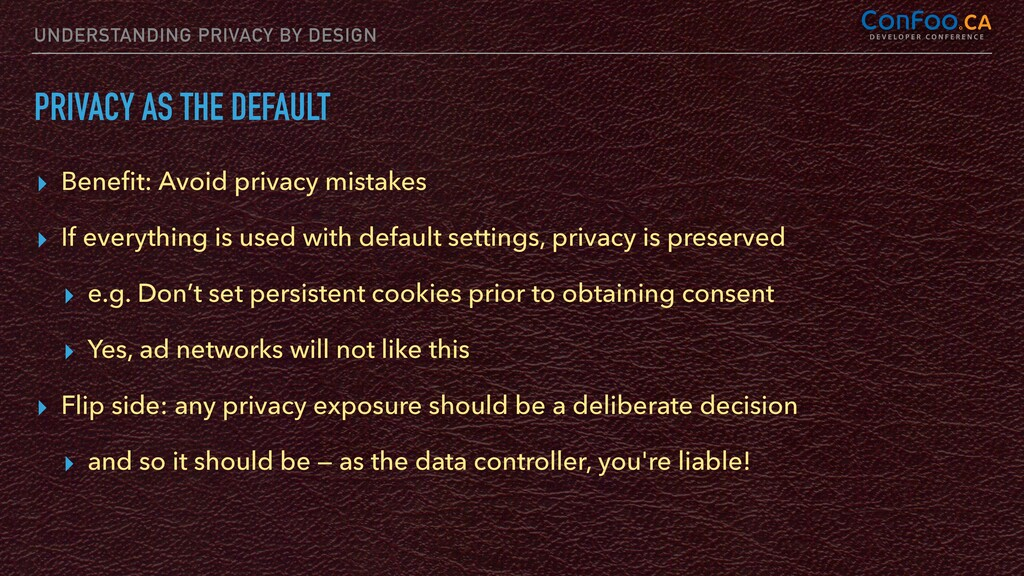 UNDERSTANDING PRIVACY BY DESIGN PRIVACY AS THE ...