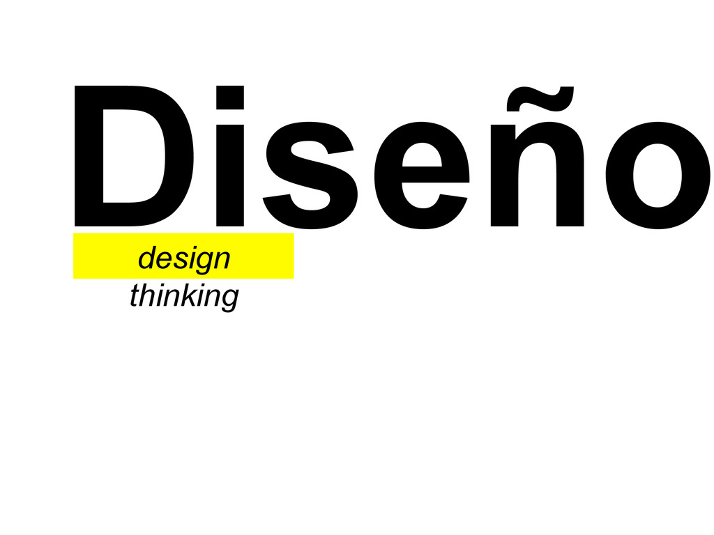 Diseño design thinking