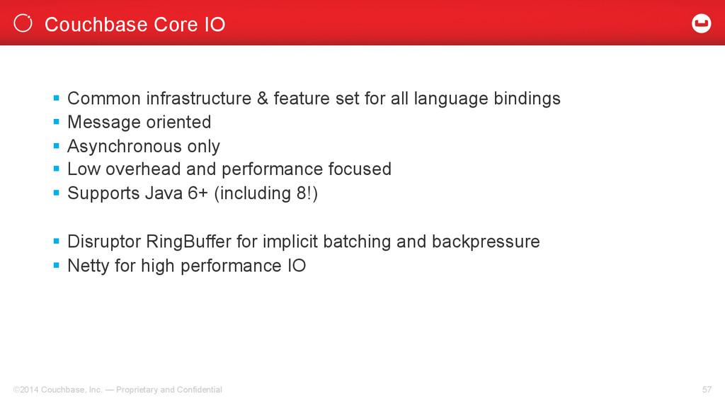 Couchbase Core IO ©2014 Couchbase, Inc. — Propr...