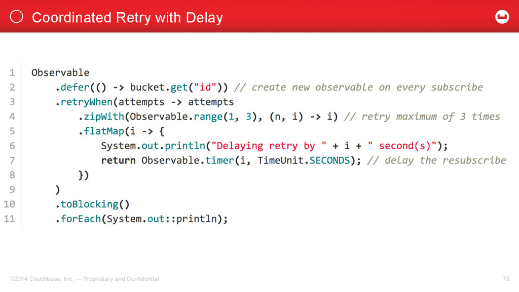 Coordinated Retry with Delay ©2014 Couchbase, I...