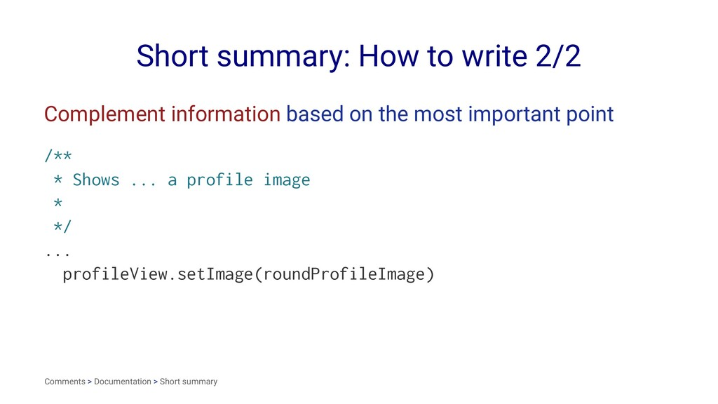 Short summary: How to write 2/2 Complement info...