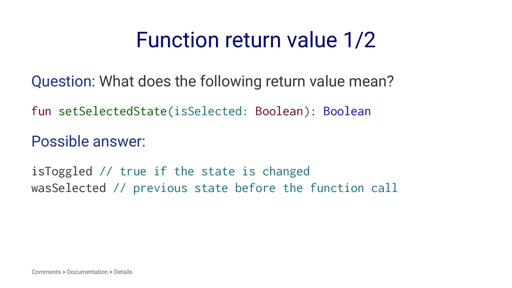 Function return value 1/2 Question: What does t...